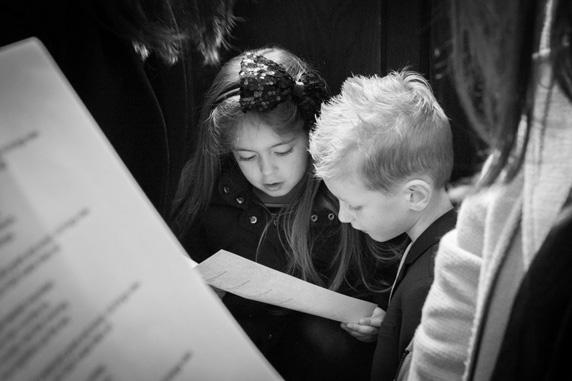 Children in church singing