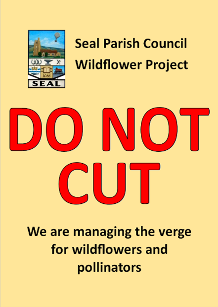 Seal Parish Council Wildflower Project - DO NOT CUT - We are managing the verge for wildflowers and pollinators