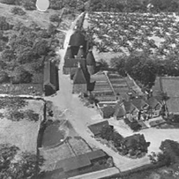 Historical black and white showing Fullers Farm in Seal