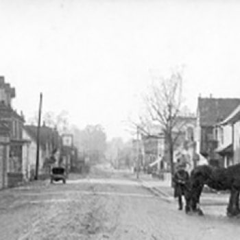 Historical black and white showing Seal High Street