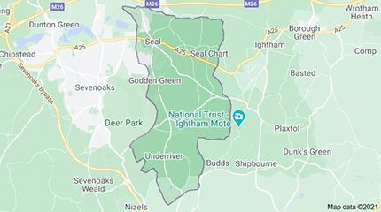 Google map of Seal, Kent